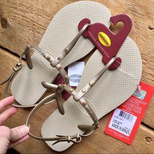 36b329893660 Havaianas Shoes - Havaianas Freedom Swarovski Crystal Sandal Gold